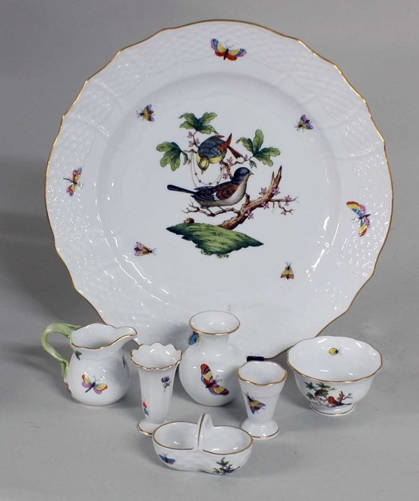 1004: GROUP OF SEVEN HEREND PORCELAIN ARTICLES