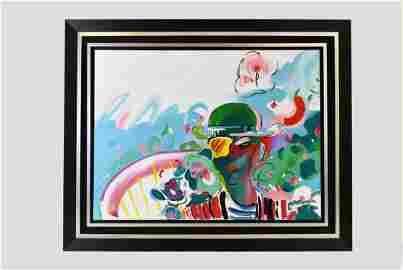 PETER MAX (German/American. b. 1937) Painting
