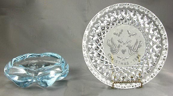 5: Waterford Plate and Orrefors Ashtray