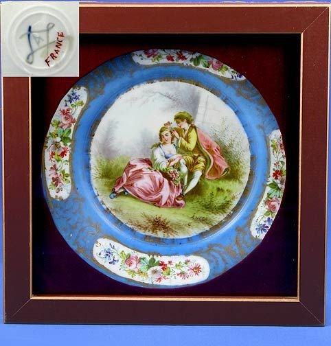 13: Hand Painted Sevres Plate