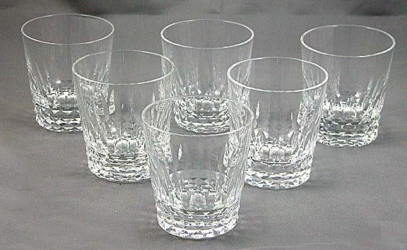 36: 6 Baccarat Crystal  Rocks Glasses