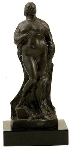 253: Gaston LaChaise Draped Woman Bronze