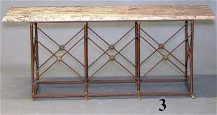 20th C MARBLE TOP CONSOLE
