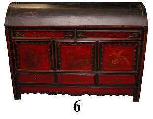 ORIENTAL PAINTED OPERA CHEST