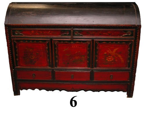 6: ORIENTAL PAINTED OPERA CHEST