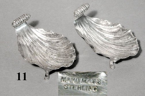 11: PAIR STERLING OPEN SALTS