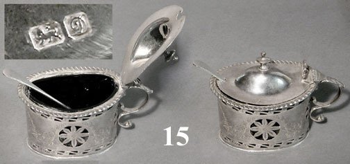 15: ENGLISH STERLING MUSTARD POT