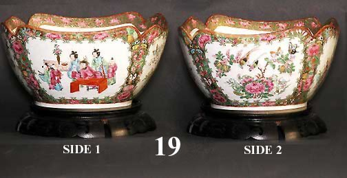 19: QING DYNASTY ROSE MEDALLION BOWL