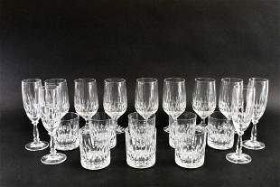 CRISTALLERIE ZWIESEL LEAD CRYSTAL PARTIAL DRINKS
