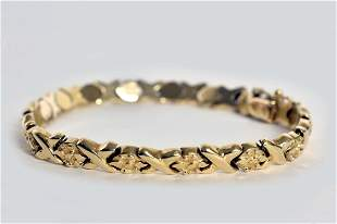 LADIES 14 KT YELLOW GOLD BRACELET