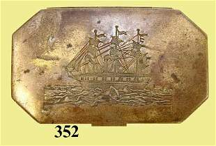 19th C AMERICAN TIN TOBACCO BOX