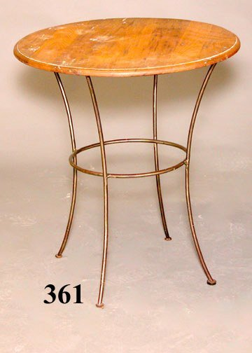361: WOOD & METAL ICE CREAM TABLE