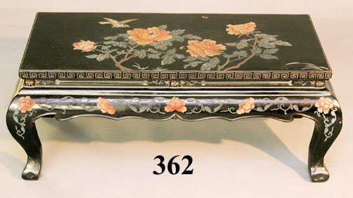 362: CHINESE PAINTED COCKTAIL TABLE