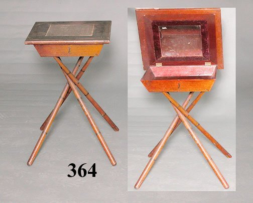 364: 19th C BAMBOO SHAVING STAND