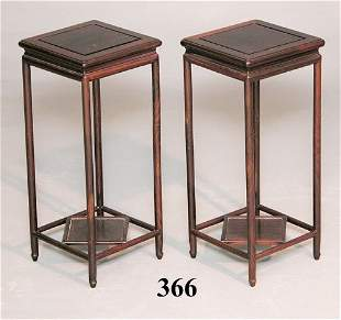 2 20th C ROSEWOOD STANDS