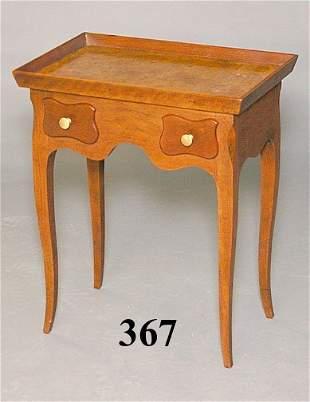 20th C BURLED WALNUT TABLE