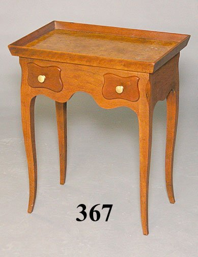 367: 20th C BURLED WALNUT TABLE