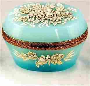 Blue Opaline Dresser Box
