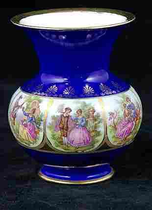 Carlsbad Cobalt and Gilded Vase