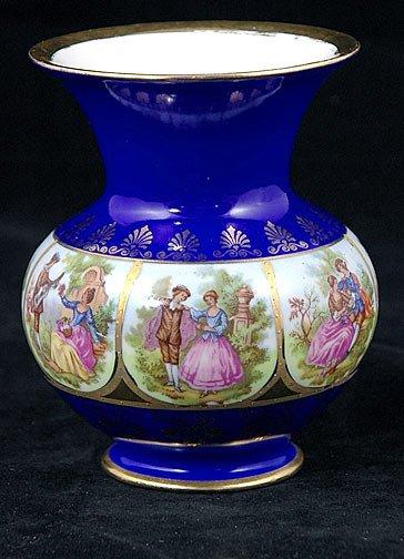6: Carlsbad Cobalt and Gilded Vase