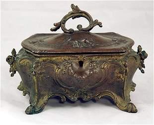 French Gilt Bronze Jewelry Casket