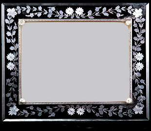 Deco Etched Glass Picture Frame