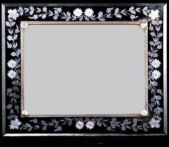 17: Deco Etched Glass Picture Frame