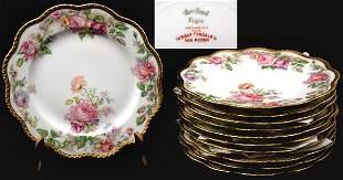 Eleven Piece Haviland Dessert Plates