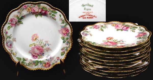 19: Eleven Piece Haviland Dessert Plates