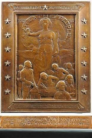 Founding Fathers Bronze Plaque