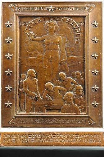 22: Founding Fathers Bronze Plaque