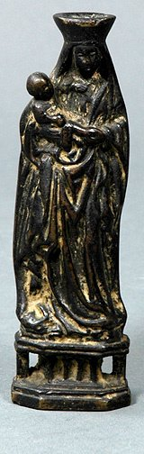 23: Bronze Madonna and Child