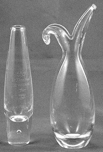 478 Two Steuben Glass Bud Vases