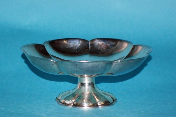 13: STERLING SILVER PEDESTAL CANDY DISH