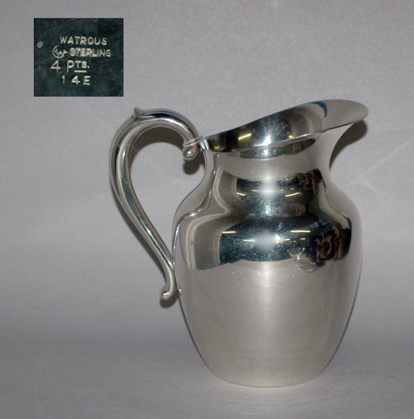 9: STERLING SILVER PITCHER