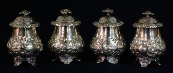 6: SET OF FOUR SILVER SHAKERS