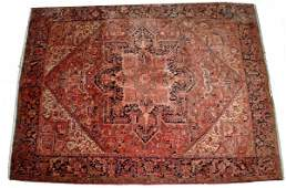 166: SEMI-ANTIQUE PERSIAN HERIZ CARPET