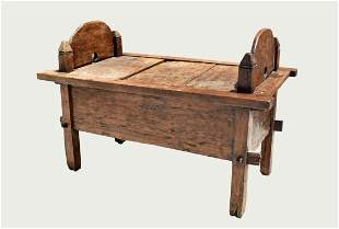 ANTIQUE VARIOUS WOOD STABLE BENCH