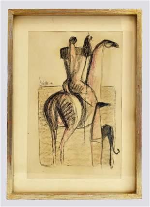 SERGIO SARRI, (Italian, B. 1938) DRAWING