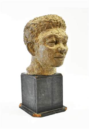 MODERNIST TERRA COTTA STUDY OF YOUNG MAN