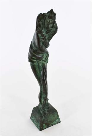 CONTINENTAL PATINATED BRONZE OF MEPHISTO