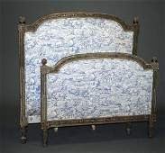 93 NEOCLASSICAL CARVED AND PAINTED DAYBED