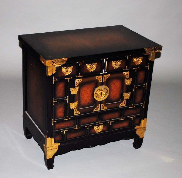 23: BRASS MOUNTED WOOD CHEST