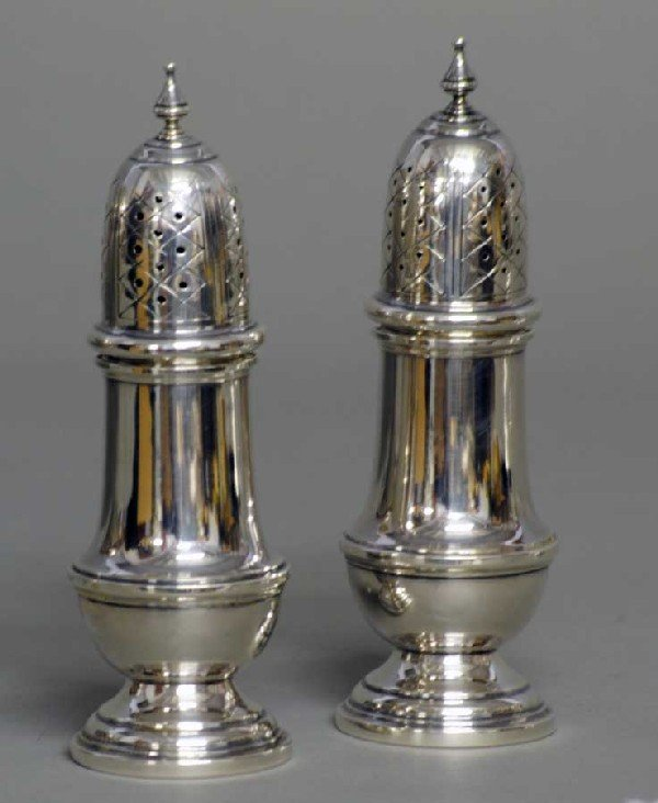 2: PAIR OF STERLING SILVER SHAKERS