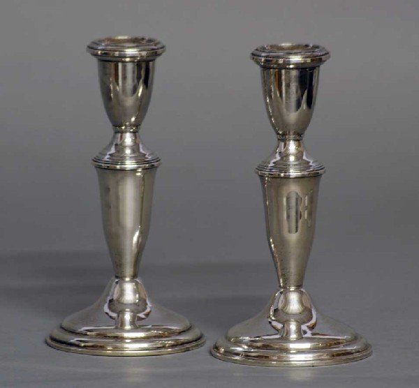 3: PAIR OF STERLING SILVER CANDLESTICKS