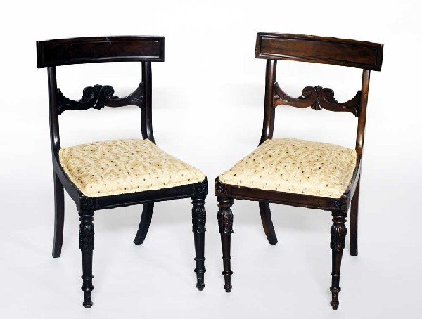 21: SET OF FOUR WILLIAM IV MAHOGANY SIDE CHAIRS