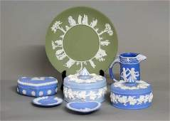 178: GROUP OF SEVEN PORCELAIN TABLE ARTICLES