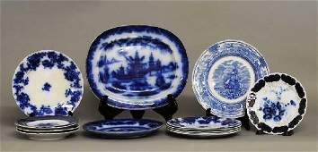 269: FOURTEEN ASSORTED POTTERY AND PORCELAIN PLATES