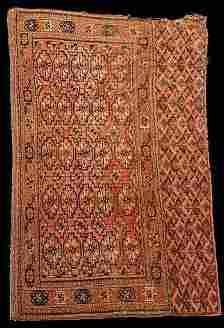 Antique Turkoman Cheval Rug c1910