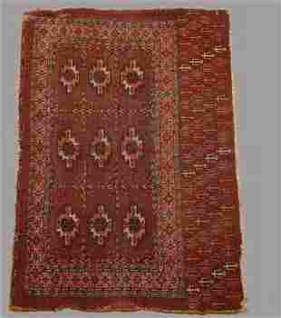 Antique Turkoman Cheval Rug c1900